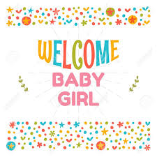 baby postcard welcome baby girl shower card arrival card cute postcard