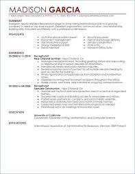 Sample Resume For Receptionist Unique Beautiful Concierge Resume