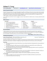 Resume Examples Financial Analyst Sample Analyst Cover Letter Data