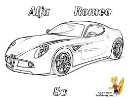 Free Ferrari Coloring Pages Printable Muscle Car Lamborghini Sports
