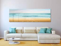 turquoise beach ocean panoramic modern contemporary hd metal wal