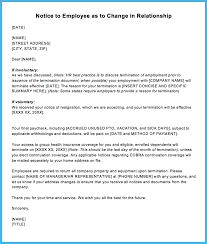Separation Notice Template Sample Termination Letter For Letting An Employee Go Justworks 15
