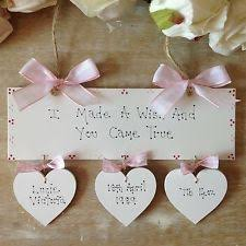 personalised newborn baby christening baptism naming day gift present sign