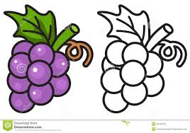 colorful and black and white gs for coloring book stock vector ilration of dessert
