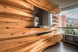 in gallery curved wooden