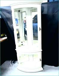 white curio cabinet glass doors white curio cabinet glass doors white corner display unit curio cabinets