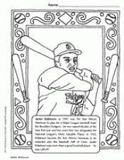 Jackie Robinson Coloring Page Black History Month Printable