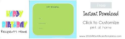 Blank Gift Certificates Templates Free Printable Gift Certificate