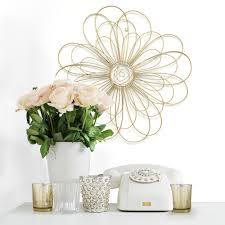 stratton home decor gold metal wire flower wall decor