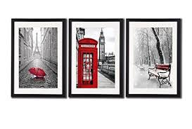 red wall art wall art prints big ben art