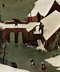 file pieter bruegel the elder the hunters in the snow detail  file pieter bruegel the elder the hunters in the snow detail