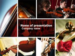 photo collage template powerpoint violin collage powerpoint template backgrounds 04918