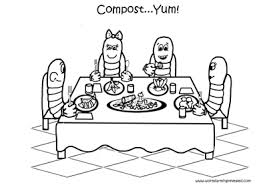 Small Picture Worm Coloring Pages Family Dining This is a free family dining