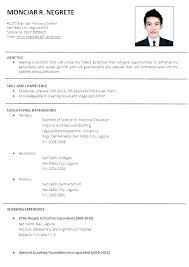Job Application Resume Template Mobile Developer Phd Cv Word