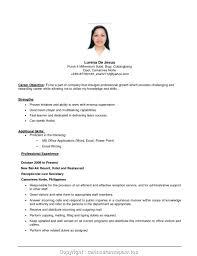 Job Applications Sample Objective Examples For Any Ekiz Iz Letter Application Print