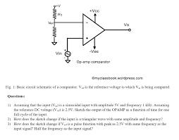 Op Amp Comparator Solved Vcc R1 Vref Vo 0 Vee Vin Op Amp Comparator Omycl