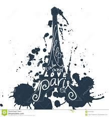 Paris Graphic Designer Paris Graphic Typographic Card Design Vector Art With