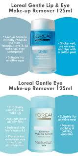loreal gentle eye makeup remover 125ml lip and eye remover 125ml