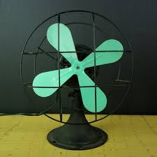 desk fan with mint blades by modern commissary