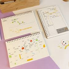 <b>Planner Book Monthly Weekly</b> Daily Agenda Schedule Blank Diary ...
