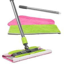 linkyo microfiber hardwood floor mop 3 reusable flat mop pads and extension included for