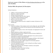 Nanny Job Responsibilities Resume Receptionist Job Description Characteristics For Resume Essay 78