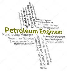 Petroleum Engineer Means Gas Employment And Jobs — Stock Photo ...