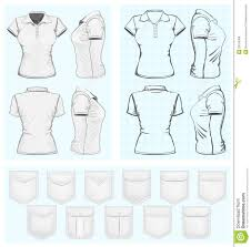 shirt design templates womens polo shirt design templates stock vector illustration of