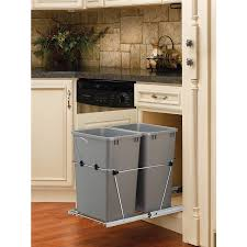 Kitchen Cabinet Garbage Can Shop Pull Out Trash Cans At Lowescom