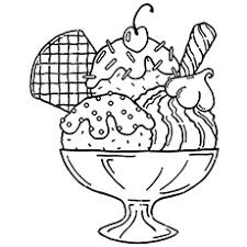 ice cream sundae coloring page. Interesting Page The Sipping Ice Cream Soda Thesundae In Sundae Coloring Page C