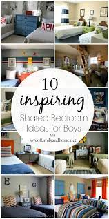 One solution is to invest in a set of lofted beds. 10 Shared Boys Bedroom Ideas Love Of Family Home