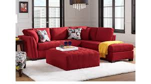 Cindy Crawford Home 179999 Calvin Heights Cardinal 3 Pc Sectional Living Room