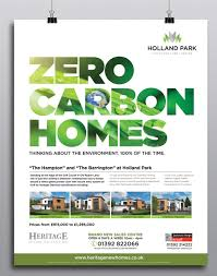 property flyer design zero carbon
