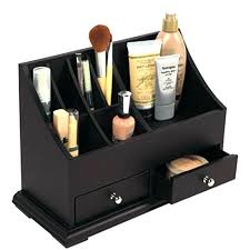s en wooden makeup organizer box