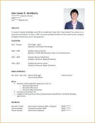 Sample Resume For University Application Sample Resume For Masters