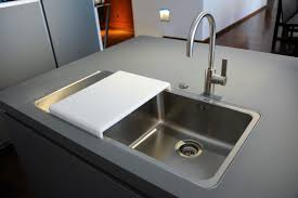 Sink With Cutting Board Modernist Kitchen Design Showrooms Jet City Gastrophysics