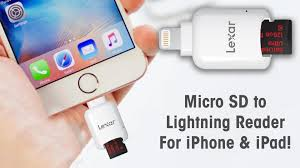 micro sd to lightning reader for iphone ipad