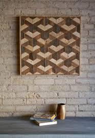 Reclaimed Wood Wall Art Reclaimed Wood Wall Art Decor Lath Pattern Geometric