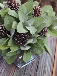 Pine Cone Wedding Table Decorations Sage Pine Cone Centerpiece This Would Also Be Great With