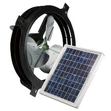 Air Vent 17.875-in Dia Solar Gable Vent Fan