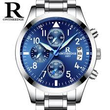 mens outdoor watches promotion shop for promotional mens outdoor ron brand 2017 new men s watches quartz watch men real three dial luminous waterproof 30m outdoor sports steel watch masculino