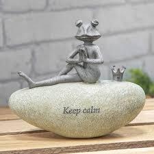 frog garden stone calm ornament cl316