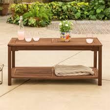 solid acacia wood outdoor patio coffee