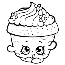 Small Picture Shopkins Cupcakes Coloring Pages GetColoringPagescom