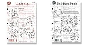 Swirls Templates Fold It Flips Fold Back Swirls Templates