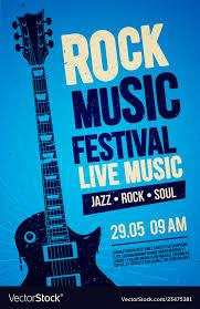 Concert Poster Design Rock Festival Concert Poster Design With Guitar