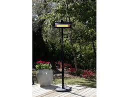 black steel telescoping offset pole mounted infrared patio heater w glass front fir hea 60253 by