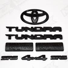 2014-2017 Toyota Tundra SR5 Emblem Overlay Black Out Kit - Nox Lux