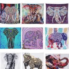 digital printing beach picnic rug blanket wall tapestry hanging towel indian bohemia mat elephant series home decoration 13 5lk bb large wall hanging