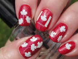 Canada Day Gel Nail Designs Canada Day Pictures Started With A Base Of Opi Red My